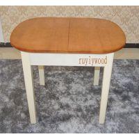 地中海欧式韩式可伸缩大理石实木橡木餐桌跳台小户型田园餐桌椅