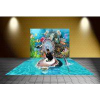 郑州海洋3D背景墙 3D墙贴 定做各类主题3D背景墙
