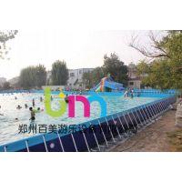 百美支架游泳池价格,新疆喀什支架游泳池厂,大型支架游泳池可上门安装