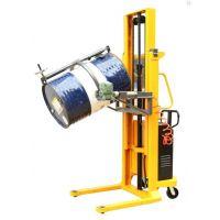厂家直销 叼口式电动油桶车 夹抱式翻转/直流电瓶液压升降油桶车