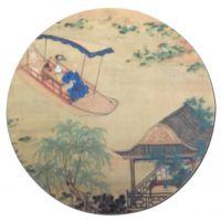 圆形鼠标垫彩色热转印逼真复古风格鼠标垫东莞厂家楚人龙来图来样定做