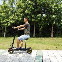 魅影新款十寸加座前后充气减震电动滑板车自行车