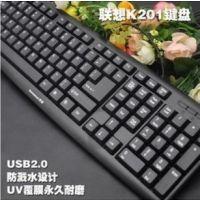 爆款联想k201 usb 有线 笔记本台式电脑超薄静音防水 键盘