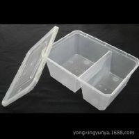 1000毫升 分格 一次性快餐盒 透明塑料饭盒 300套 0.6元/套