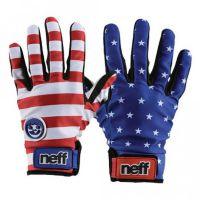 neff美国国旗滑雪手套 PU涂层掌心防滑硅制层保暖防风防水手套