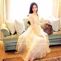 预售 发售 欧洲站高端定制 重工真丝星星亮片刺绣公主连衣裙