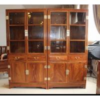 名琢世家刺猬紫檀红木古典中式书柜价格图片大全