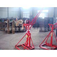 厂家直销 加强型0.4T双管全角型小型吊机/吊砖机/提升机