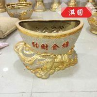 厂家直销 优质电镀陶瓷花盆 纳财电镀陶器花盆