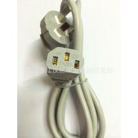 灰色机箱电源线 1.5米 纯铜粗线 电源适配器连接线 品字电源线