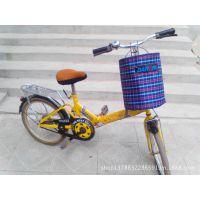 折叠自行车车篮 方格 无盖布车篮 布娄 布筐挂蓝山地车电动车前包