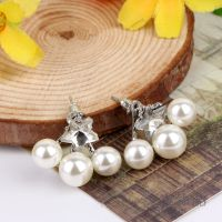 韩版高档创意时尚星形珍珠耳钉 新款防过敏耳钉 义乌厂家批发