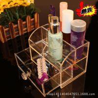 透明化妆品收纳盒 饰品置物盒批发 定制亚克力有机玻璃化妆品盒