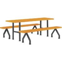 厂家直销八人位分体餐桌椅 玻璃钢材质报价 作用 行情 康合玻璃制品厂