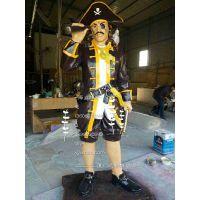 ?玻璃钢人物雕塑厂家,玻璃钢海盗人物雕塑,仿铜人物雕塑制作,
