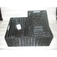 供应加工卖批发优质纯手工编织工艺品PE储物蓝收纳柜各种编织品