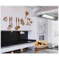 现货批发 厨房去污去油阻燃透明膜墙贴 可移除PVC墙贴一件代发