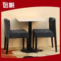 生产 休闲两人软包餐饮桌椅 欧式餐桌椅分体餐桌椅 快餐店餐桌椅