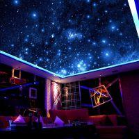 KTV大型壁画生产 包房个性背景墙纸定制 天花天顶星空壁画墙纸