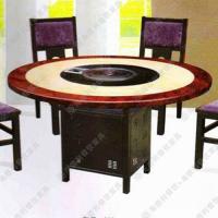 酒店高档各式火锅桌 电磁炉餐厅桌子 电磁炉圆形火锅桌