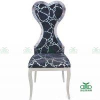 高级西餐厅椅子家用不锈钢餐椅 高级包房椅子餐厅椅