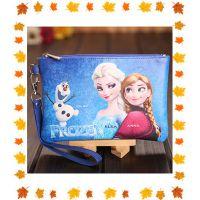 冰雪奇缘迪士尼公主女士PU方形零钱包手机包儿童钱包生日礼物