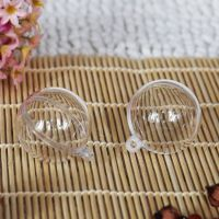 【低价促销】4CM直径 硬透明塑料球 圣诞球 节庆装饰球