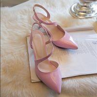 厂家直销女鞋凉鞋夏季新款潮欧洲站尖头细高跟鞋大小码定制代发