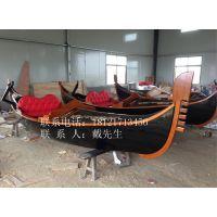 哪里欧式船质量好河北石家庄公园水库木质手划船威尼斯贡多拉游船客船