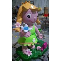 树脂娃娃雕塑玻璃钢卡通小女孩雕塑