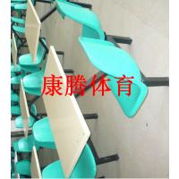湖北餐桌椅厂家 康腾玻璃钢4人连体餐桌椅价格 加宽加厚面板桌子