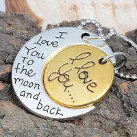 情人节项链 I love you to the moon and back速卖通ebay热卖