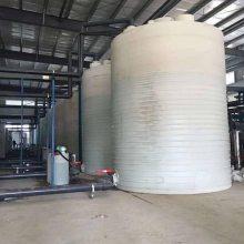 厂家直销 30吨大型圆形PE滚塑容器 生产消防塑料水箱 可来图定制