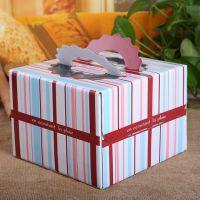 韩国DIY 高级6寸蛋糕盒 生日手提蛋糕 各色礼盒 包装纸盒