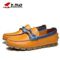 走索ZS672J休闲皮鞋豆豆鞋牛皮户外时尚休闲鞋英伦套脚舒适男鞋