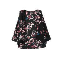 LA.F-AS-6636#-ET   欧美时尚复古印花雪纺和服开衫外套