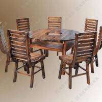 电磁炉火锅餐桌厂家供应 火锅电磁炉餐桌 原木色火锅桌