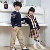秋冬款幼儿园园服纯棉西装礼服套装小学校服英伦幼儿园服