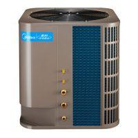 美的5匹空气能热水器,500人工厂一年可以节约20万元