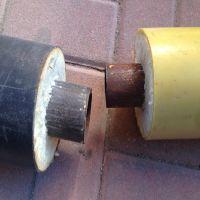 供应采暖直埋式预制保温管聚氨酯保温钢管