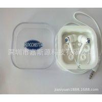 耳机厂家供应水晶方盒耳机 滴胶公仔耳机 品质保证