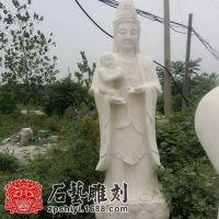 供应汉白玉观音 大理石送子观音佛像 大型雕刻佛像 寺庙用品石雕
