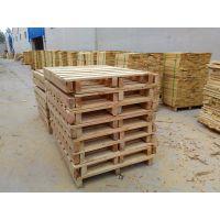 供应 君众包装 泰安优质出口专用松木托盘 二面进叉木托盘