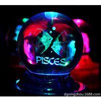 内雕水晶球生日礼物 创意3D工艺品内雕加工定制
