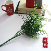 厂家批发 仿真花卉 假花 绢花 7叉尤加利叶米兰草 绿植塑料