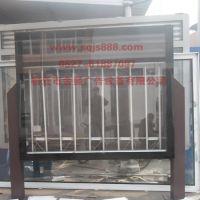 不锈钢材质制作的阅报栏灯箱生产供应、双立柱社区阅报栏灯箱190滚动灯箱设计与制作