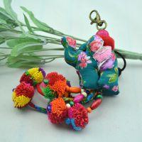 泰国大象挂件5个大象配饰 民族风挂饰 DIY手机钥匙包挂饰品