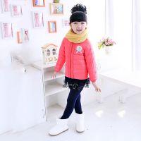 2014韩版新款儿童羽绒服 时尚韩版  可爱花边涤纶保暖童羽绒服