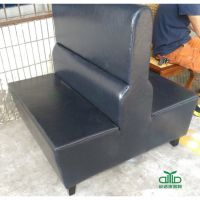 优质简约卡座沙发 单面卡座定制 休闲餐厅沙发批发厂家运达来家具