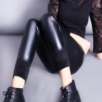 供应杂款库存女长裤加绒pu冬季打底裤 清仓尾货便宜处理保暖皮裤